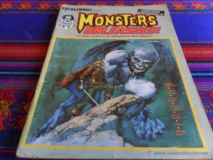 VÉRTICE VOL. 1 ESCALOFRÍO Nº 3 MONSTERS UNLEASHED! Nº 1. 1974. 30 PTS. MONSTRUOS DESMANDADOS. (Tebeos y Comics - Vértice - Terror)