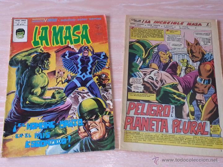 LA MASA - VOL.3 - NÚMEROS 37 Y 38 - VÉRTICE MUNDI COMICS - 1979 (NÚMERO 38 SIN PORTADA - CONTRAPORTA (Tebeos y Comics - Vértice - La Masa)
