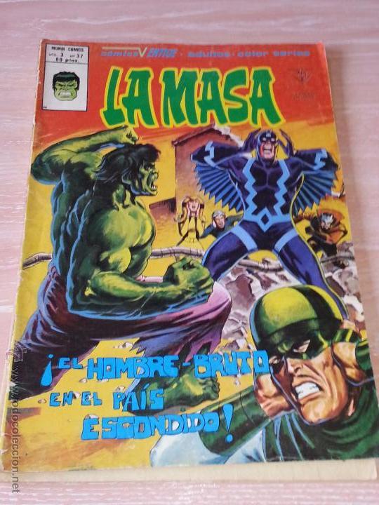Cómics: LA MASA - VOL.3 - NÚMEROS 37 Y 38 - VÉRTICE MUNDI COMICS - 1979 (NÚMERO 38 SIN PORTADA - CONTRAPORTA - Foto 2 - 53203269