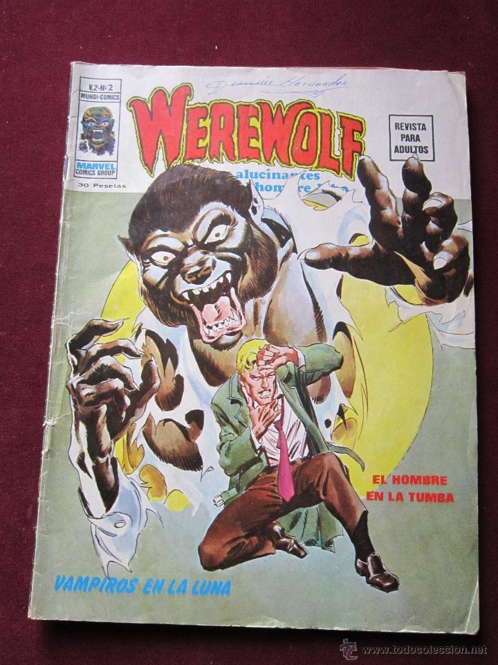 WEREWOLF. HOMBRE LOBO Nº 2 VAMPIROS EN LA LUNA V.2. VERTICE 1974 TEBENI (Tebeos y Comics - Vértice - Otros)