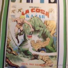 Cómics: SUPER HEROES V 2 VOL II VERTICE : EL HOMBRE COSA Y KAZAR Nº 57 MUNDI COMICS. Lote 53571614