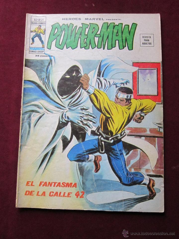 HEROES MARVEL Nº 29 VOL. 2. POWER-MAN ¡EL FANTASMA DE LA CALLE 42! VERTICE. V. 2. TEBENI POWERMAN (Tebeos y Comics - Vértice - Otros)