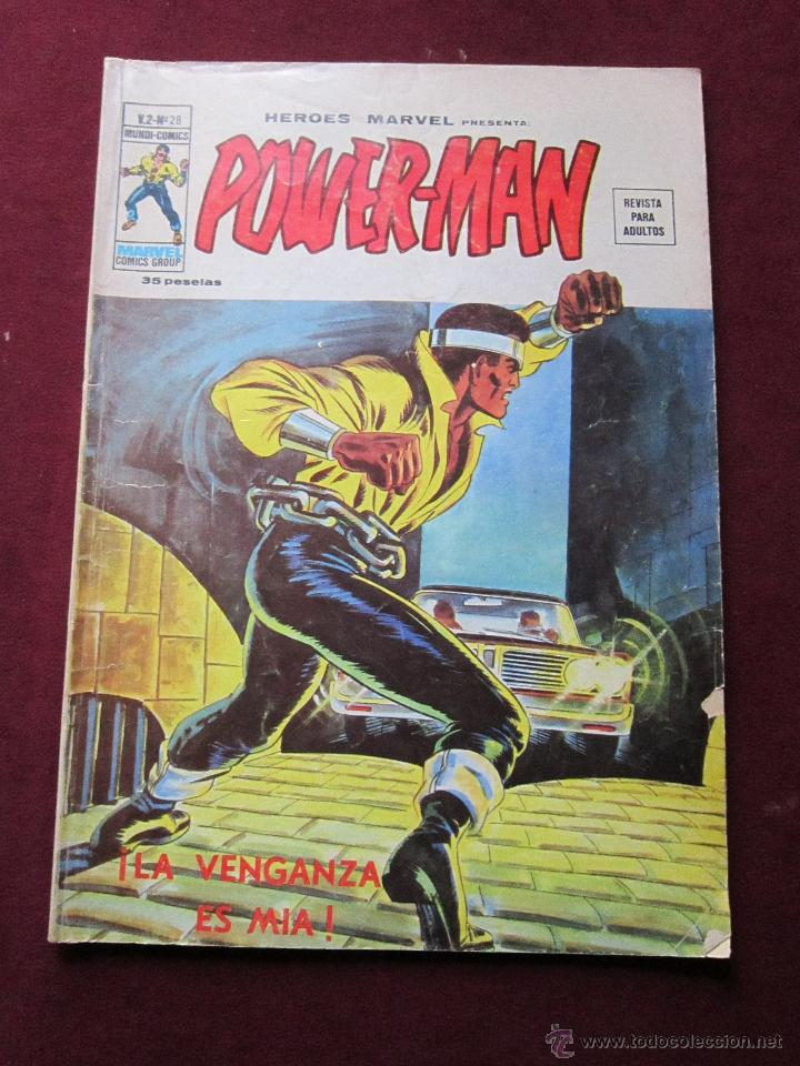 HEROES MARVEL Nº 28 VOL. 2. POWER-MAN ¡LA VENGANZA ES MIA! VERTICE. V. 2. TEBENI POWERMAN (Tebeos y Comics - Vértice - Otros)