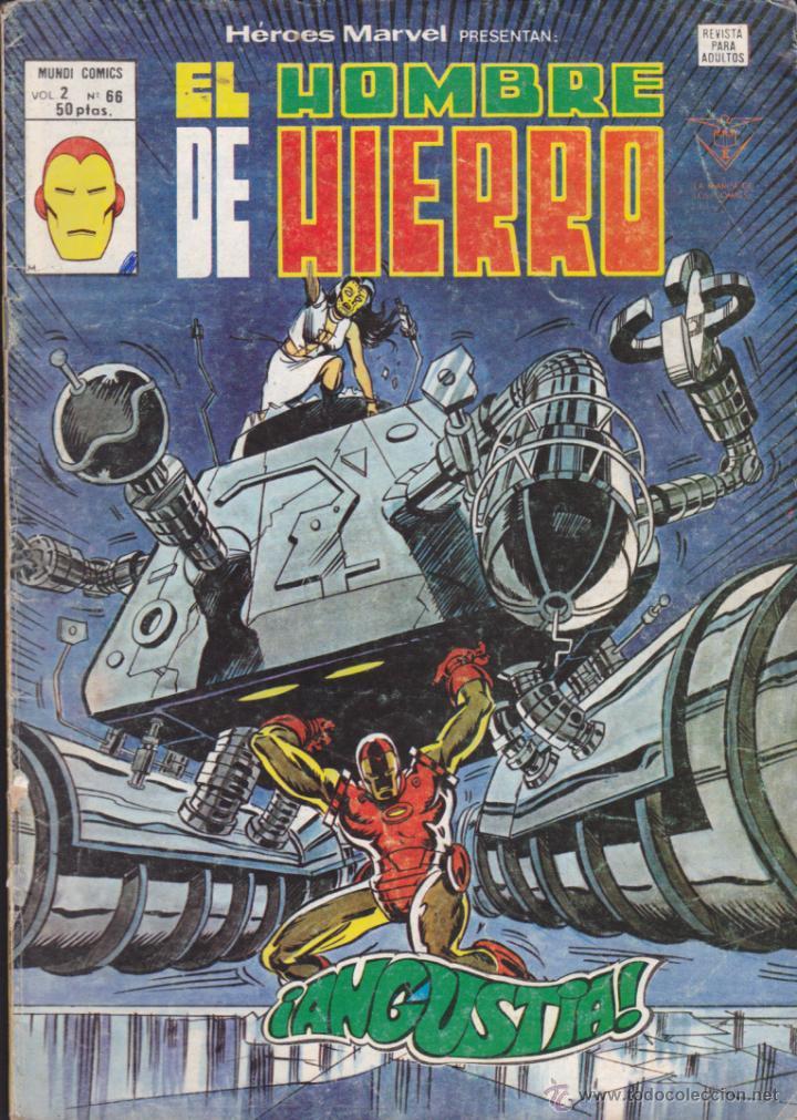 COMIC COLECCION HEROES MARVEL VOL.2 Nº 66 EL HOMBRE DE HIERRO (Tebeos y Comics - Vértice - Hombre de Hierro)