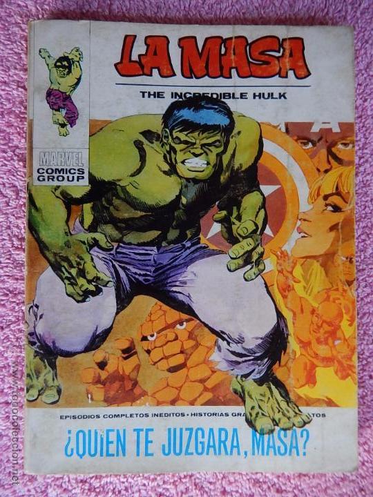 LA MASA 25 EDICIONES VERTICE 1972 QUIEN TE JUZGARA MASA VOL 1 25 PESETAS (Tebeos y Comics - Vértice - La Masa)