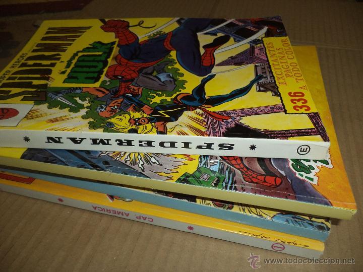 Cómics: Lote de 5 retapados VÉRTICE MARVEL Spiderman,Hulk,Iron Man,Thor y Capitán América.Muy difíciles. - Foto 2 - 54171777