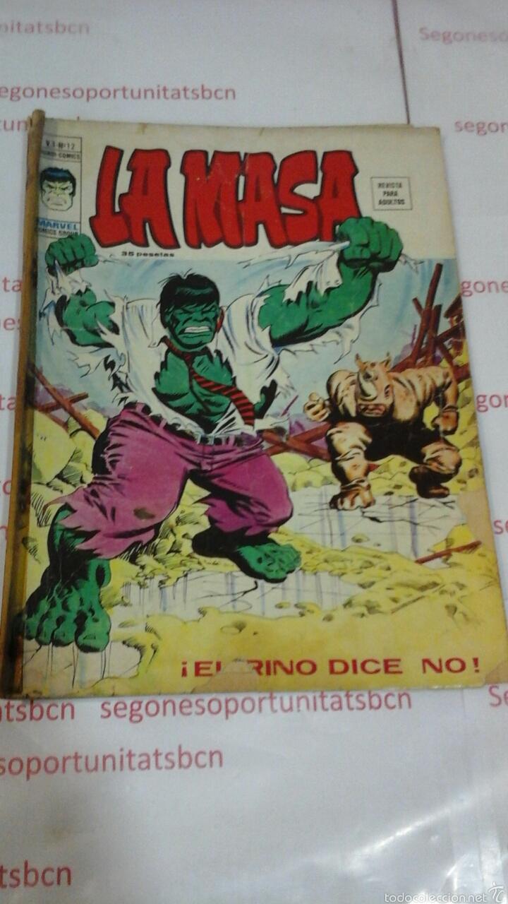 LA MASA - VOL 3 N°12 - VERTICE (Tebeos y Comics - Vértice - La Masa)