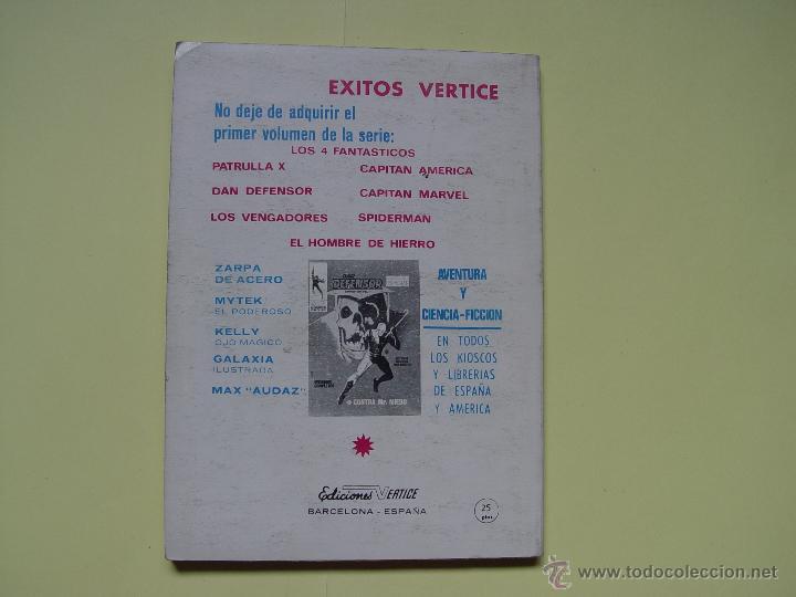 Cómics: LOS VENGADORES (Kang; nº 4) Comic Marvel (VÉRTICE, 1969) COLECCIONISTA - Foto 2 - 205681907