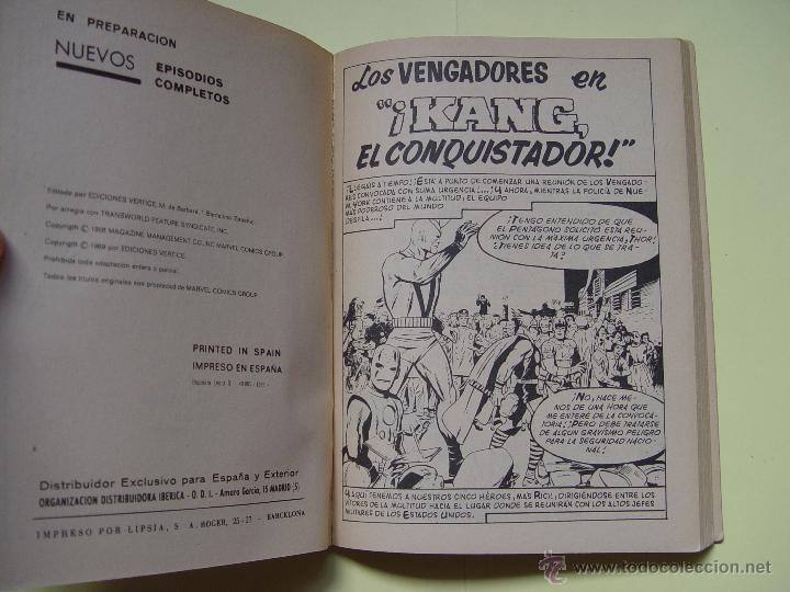 Cómics: LOS VENGADORES (Kang; nº 4) Comic Marvel (VÉRTICE, 1969) COLECCIONISTA - Foto 5 - 205681907