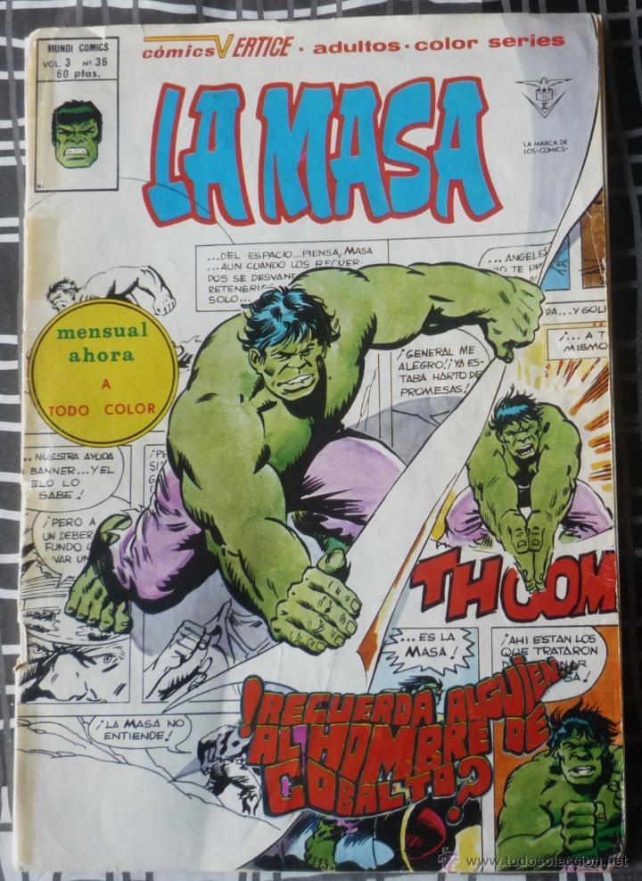 LA MASA. V3 Nº 36 (Tebeos y Comics - Vértice - La Masa)