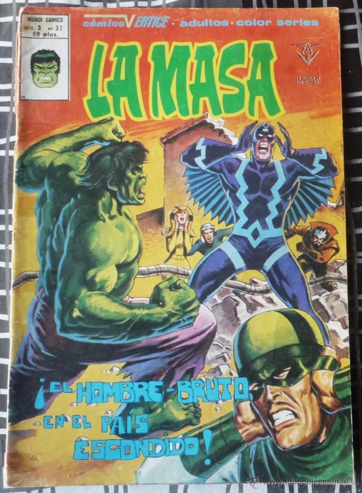 LA MASA. V3 Nº 37 (Tebeos y Comics - Vértice - La Masa)