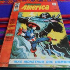 Cómics: VÉRTICE VOL. 3 CAPITÁN AMÉRICA Nº 18. 50 PTS. 1977. MÁS MONSTRUO QUE HOMBRE.. Lote 54605238