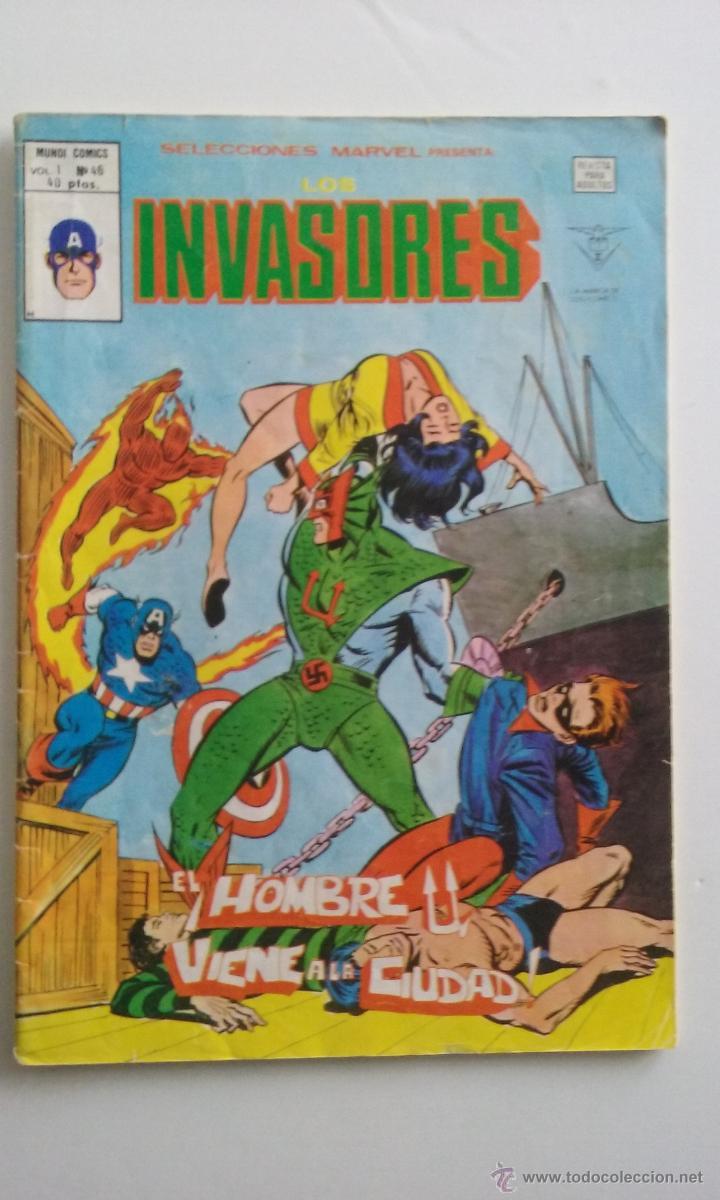 VERTICE V1/ LOS INVASORES-SELECCION HEROES MARVEL- Nº46. (Tebeos y Comics - Vértice - Otros)