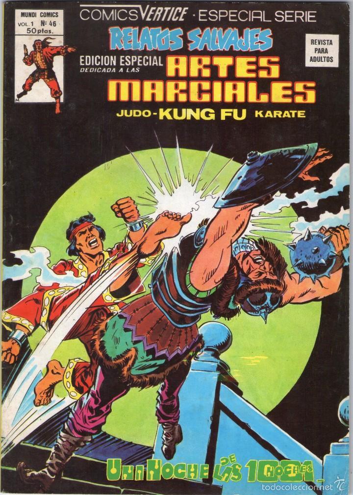 RELATOS SALVAJES - VOL. 1 Nº 46 - ARTES MARCIALES - MUNDI COMICS - EDICIONES VERTICE - AÑO 1979. (Tebeos y Comics - Vértice - Relatos Salvajes)