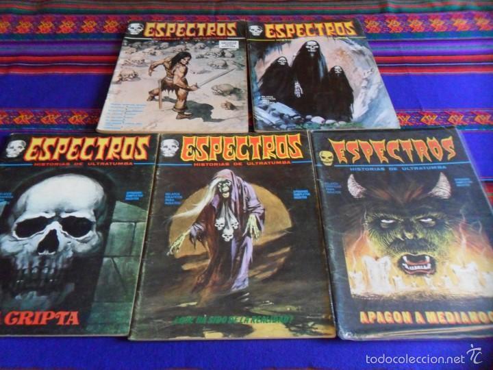 VÉRTICE VOL. 1 ESPECTROS 11 12 19 20 24. 1972. 25 PTS. REGALO NºS 1 3 21. DIFÍCILES!!!!! (Tebeos y Comics - Vértice - Terror)