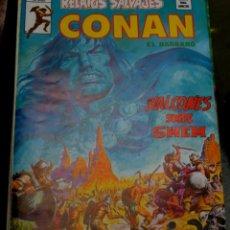 Cómics: HALCONES SOBRE SHEM RELATOS SALVAJES CONAN EL BÁRBARO VOL. 1 Nº 76 EDICIONES VÉRTICE AÑO 1979. Lote 56150140