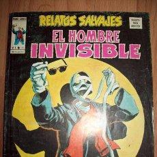 Cómics: EL HOMBRE INVISIBLE. RELATOS SALVAJES VOL. 1 ; Nº 31. Lote 56197748