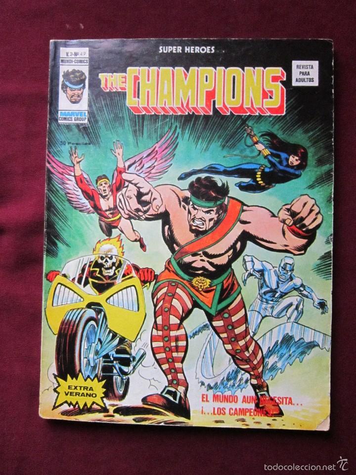 SUPER HEROES Nº 49 VOL. 2 THE CHAMPIONS EXTRA DE VERANO VERTICE, 1976 TEBENI (Tebeos y Comics - Vértice - Super Héroes)