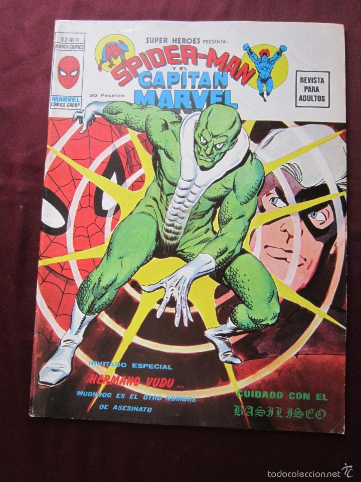 SUPER HEROES Nº 11 VOL. 2. SPIDERMAN Y CAPITÁN MARVEL MUNDICOMICS. VERTICE, 1974 TEBENI MBE (Tebeos y Comics - Vértice - Super Héroes)