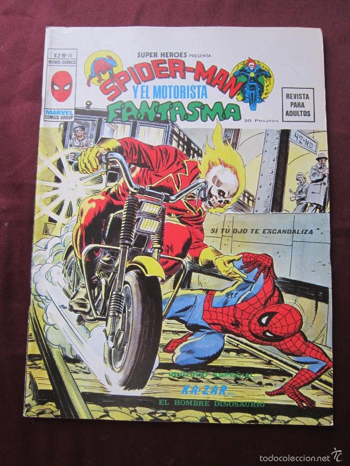 SUPER HEROES Nº 10 VOL. 2 SPIDERMAN Y MOTORISTA FANTASMA VERTICE, 1974 TEBENI EXCELENTE ESTADO (Tebeos y Comics - Vértice - Super Héroes)