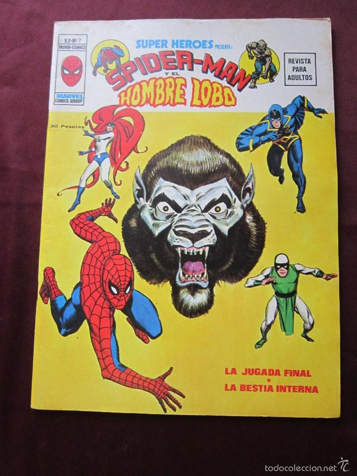 SUPER HEROES Nº 7 VOL. 2 SPIDERMAN Y EL HONBRE LOBO VERTICE, 1974 TEBENI COMO NUEVO (Tebeos y Comics - Vértice - Super Héroes)