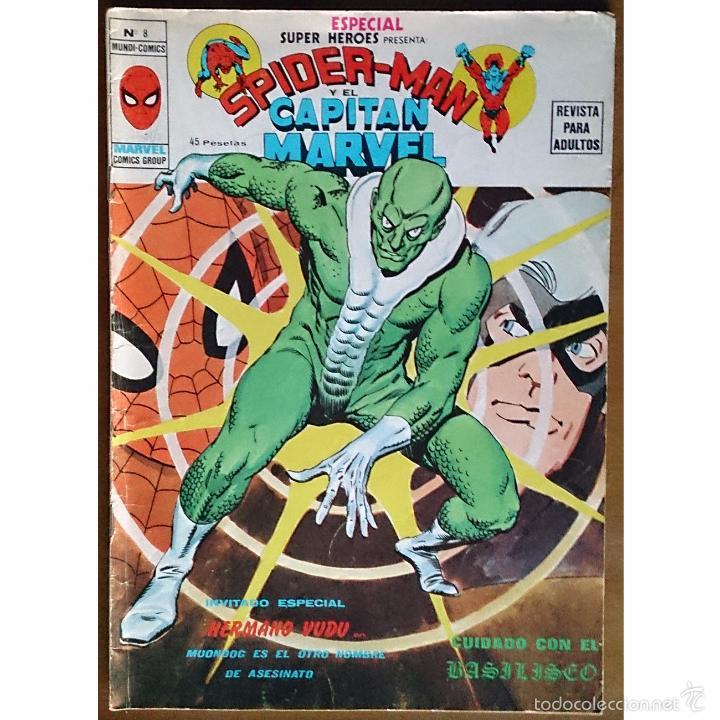 SUPER HEROES PRESENTA Nº 8 / SPIDERMAN Y EL CAPITAN MARVEL / MARVEL / VERTICE / MUNDI COMICS 1979 (Tebeos y Comics - Vértice - Super Héroes)