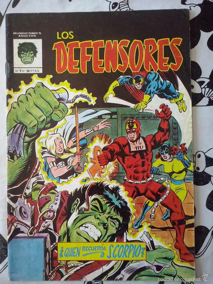 VERTICE MUNDICOMICS- LOS DEFENSORES NUM. 3 (Tebeos y Comics - Vértice - Surco / Mundi-Comic)