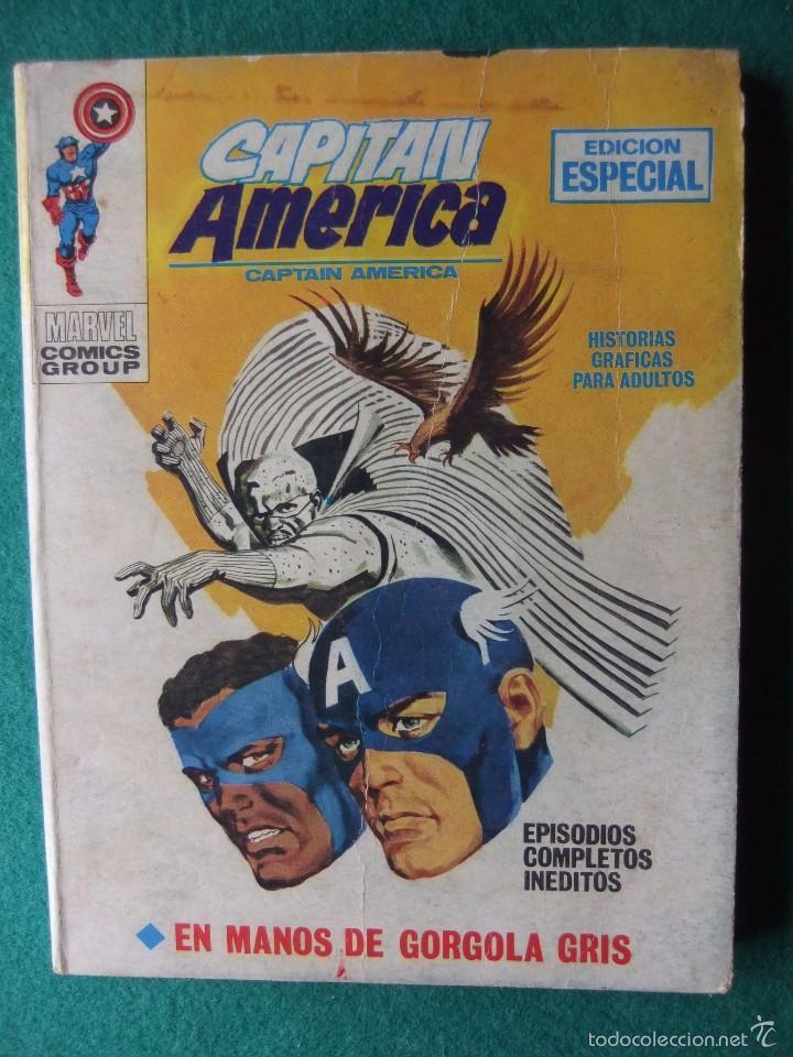 CAPITAN AMERICA VOL. 1 Nº 20: EN MANOS DE GORGOLA GRIS - LOPEZ ESPI (VERTICE 1971) (Tebeos y Comics - Vértice - Capitán América)