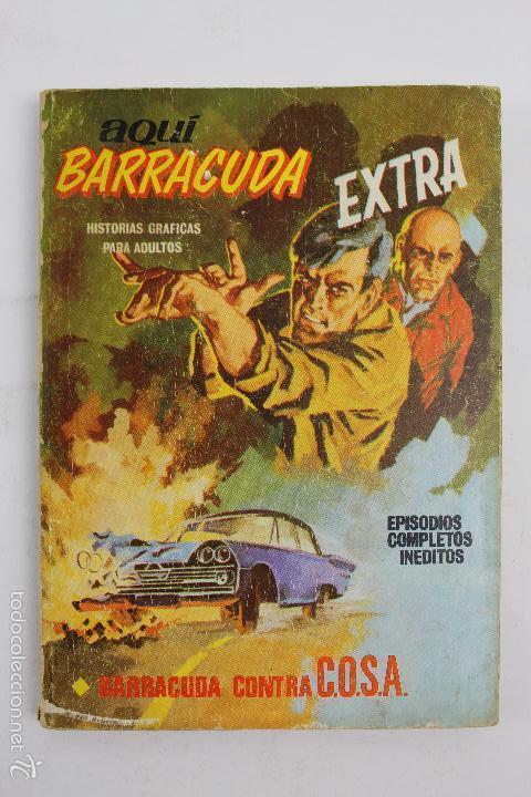 L-3862 AQUI BARRACUDA EXTRA. BARRACUDA CONTRA C.O.S.A. ED. VERTICE 1966 (Tebeos y Comics - Vértice - Otros)
