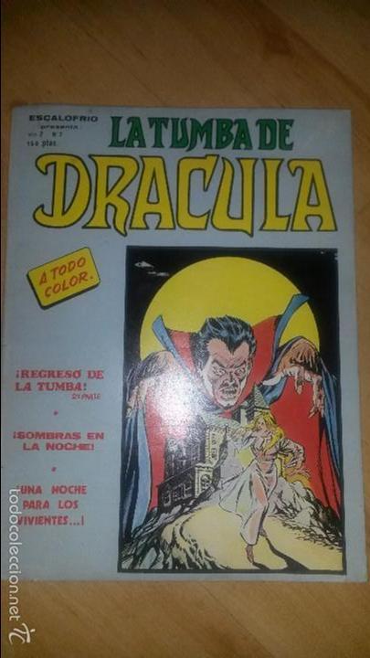 LA TUMBA DE DRÁCULA - ESCALOFRIO - VOL.2 - NÚMERO 7 - BUEN ESTADO (Tebeos y Comics - Vértice - Terror)