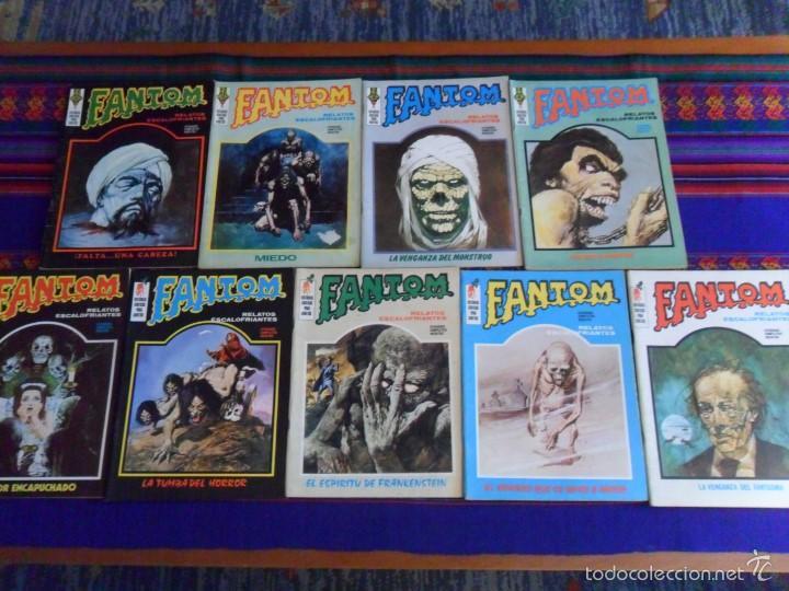 VÉRTICE VOL. 1 FANTOM 2 4 5 6 9 15 17 21 23 24 26. 25 PTS. 1972. MUY BUEN ESTADO. (Tebeos y Comics - Vértice - Terror)