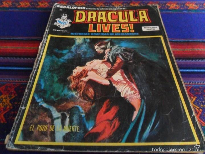 VÉRTICE VOL 1 ESCALOFRÍO Nº 38 DRACULA LIVES! Nº 10. 35 PTS. 1975. EL POZO DE LA MUERTE. (Tebeos y Comics - Vértice - Terror)