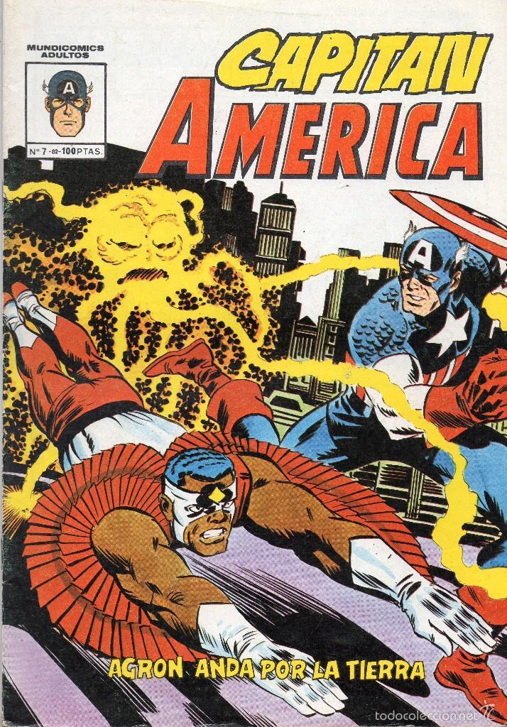 COMIC VERTICE - MUNDI COMICS 1982 CAPITAN AMERICA Nº 7 (MUY BUEN ESTADO) (Tebeos y Comics - Vértice - Grapa)
