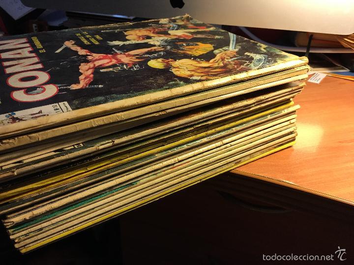 LOTE 25 COMICS CONAN RELATOS SALVAJES VOL 1 Nº ENTRE EL 10 Y EL 84 (COIB103) (Tebeos y Comics - Vértice - Conan)