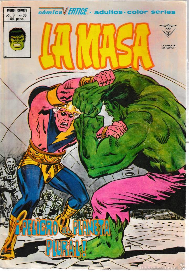 LA MASA. VOL. 3 Nº 38 (Tebeos y Comics - Vértice - La Masa)