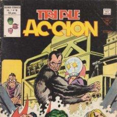 Cómics: COMIC VÉRTICE V.1 TRIPLE ACCIÓN Nº 19 EXCELENTE ESTADO. Lote 58011997