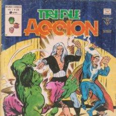 Cómics: COMIC VÉRTICE V.1 TRIPLE ACCIÓN Nº 20 BUEN ESTADO. Lote 58012039