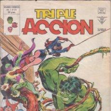 Cómics: COMIC VÉRTICE V.1 TRIPLE ACCIÓN Nº 21 BUEN ESTADO. Lote 58012063