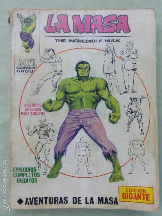 VÉRTICE VOL.1 EDICIÓN GIGANTE LA MASA-EL INCREÍBLE HULK -1971.AVENTURAS LA MASA-COMPLETO-MUY DIFÍCIL (Tebeos y Comics - Vértice - La Masa)