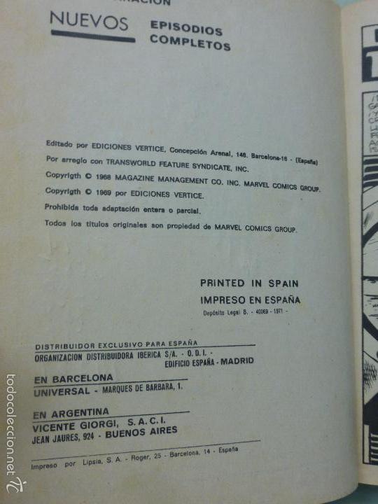 Cómics: VÉRTICE VOL.1 EDICIÓN GIGANTE LA MASA-EL INCREÍBLE HULK -1971.AVENTURAS LA MASA-COMPLETO-MUY DIFÍCIL - Foto 3 - 58244849