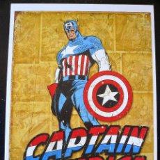 Cómics: CARTEL CAPTAIN AMERICA MARVEL COMICS 45 X 32 CM. Lote 58266150