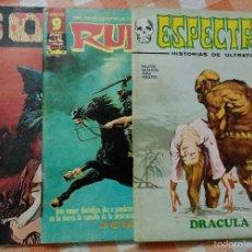 Cómics: ESPECTROS Nº 11 (VERTICE 1973), RUFUS Nº 37 (IBEROMUNDIAL 1976) Y S.O.S Nº 6 (VALENCIANA 1975). Lote 57759553