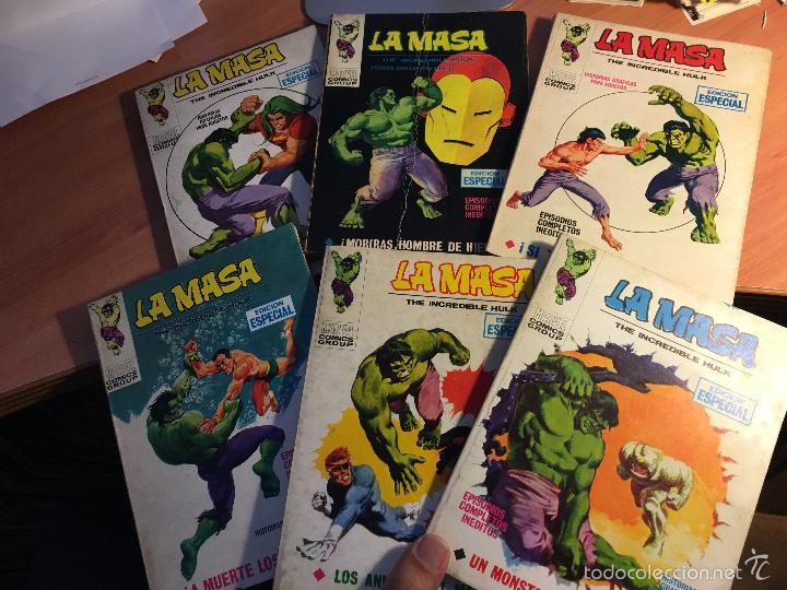 LOTE LA MASA Nº 2, 3, 8, 14 Y 19 TACO (VERTICE 25 PTAS) (COIB16) (Tebeos y Comics - Vértice - La Masa)