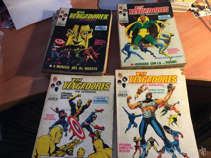 LOTE LOS VENGADORES Nº 7, 8, 9, 11, 12, 14, 16, 19, 22, 23, 25, 26, 28, 29 TACO ( 25 PTAS) (COIB16) (Tebeos y Comics - Vértice - Vengadores)