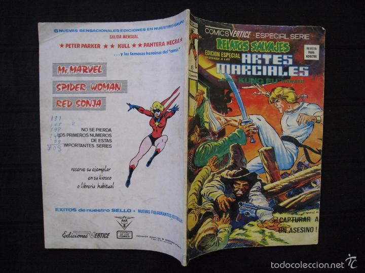 Cómics: RELATOS SALVAJES - Nº 41 - EDICION ESPECIAL ARTES MARCIALES - EDICIONES VERTICE. - Foto 3 - 58472668