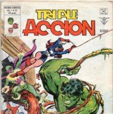 Cómics: COMIC VERTICE 1980 TRIPLE ACCION VOL1 Nº 21 (BUEN ESTADO). Lote 58476451