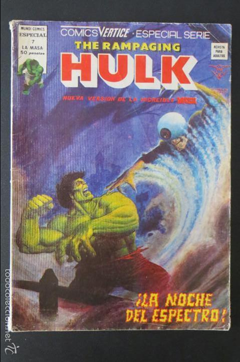 THE RAMPAGING HULK Nº 7. LA MASA. VERTICE (Tebeos y Comics - Vértice - La Masa)