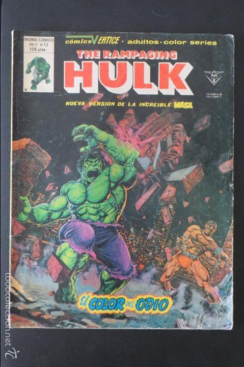 THE RAMPAGING HULK Nº 13. LA MASA. VERTICE (Tebeos y Comics - Vértice - La Masa)