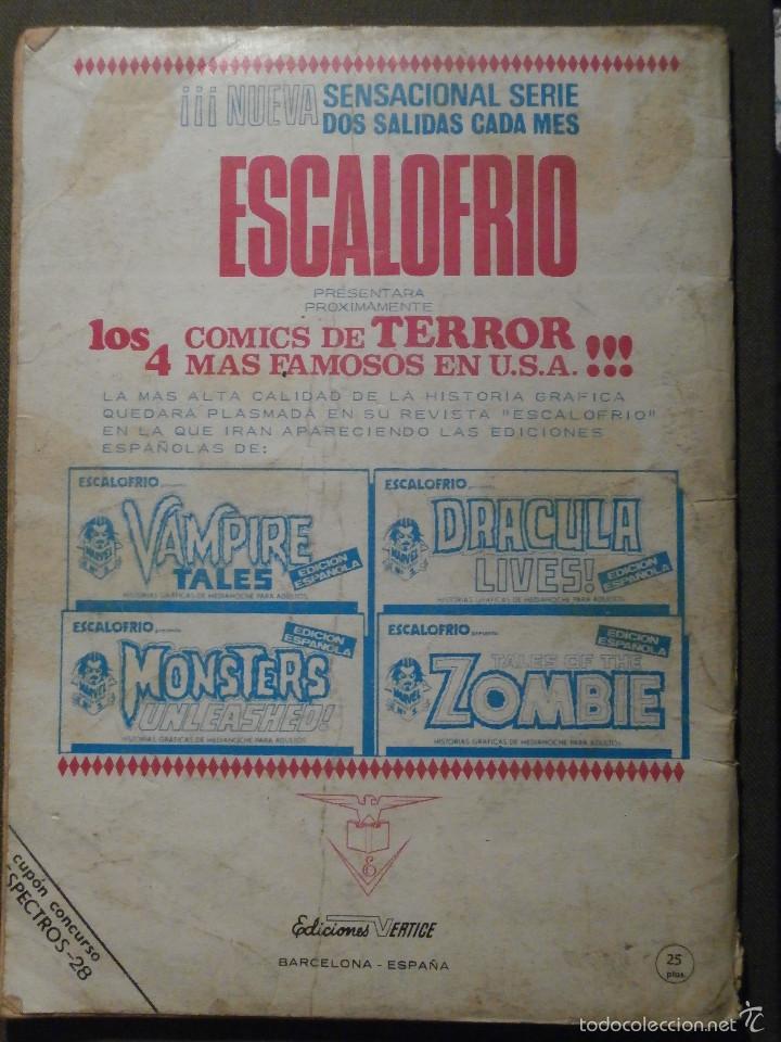 Cómics: COMIC - ESPECTROS - HISTORIAS DE ULTRATUMBA - Nº 28 - LA SANGRE DE BURTON - 1974 - VERTICE - - Foto 2 - 58645085