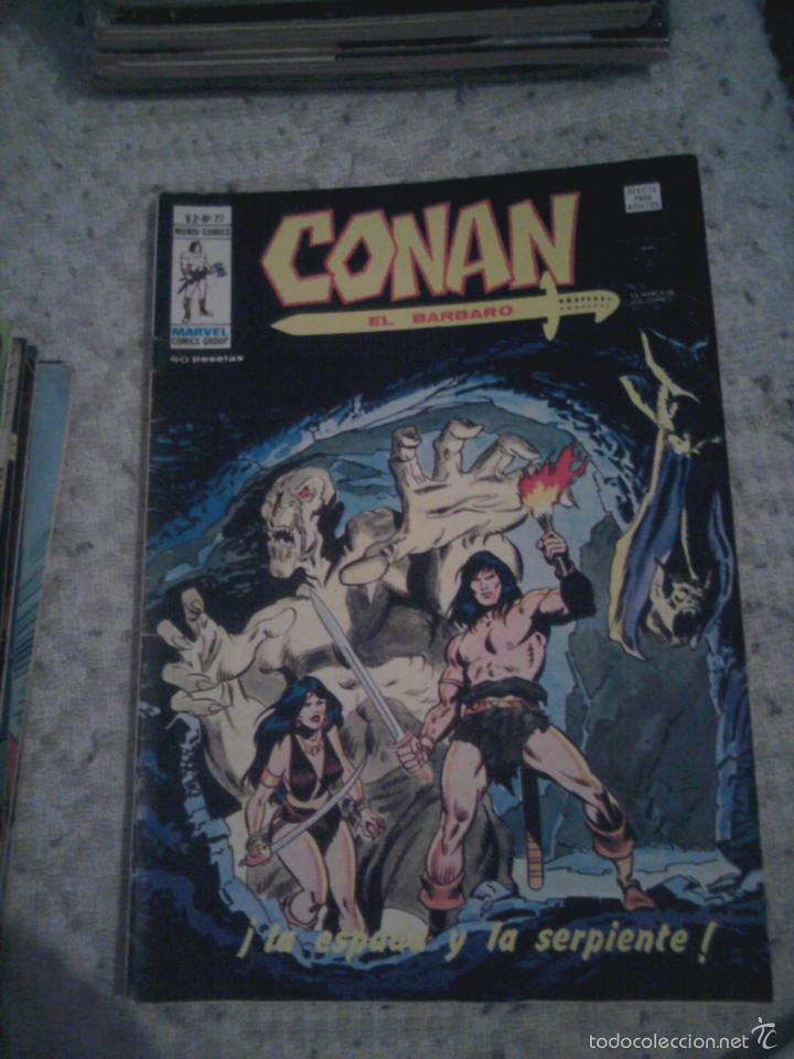 Cómics: Conan el Bárbaro 26 27 28 29 30 31 32 33 36 37 38 39 40 41 42 y 43 - Vértice - nºs sueltos - Foto 2 - 58772026